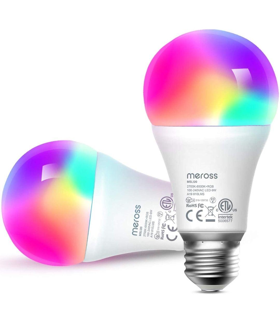 Pack de 2 Bombilla LED compatible con Alexa y Google assistant
