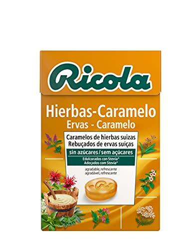 20x Cajas de Ricola Sabor Hierbas/Caramelo 50g - Total 1kg