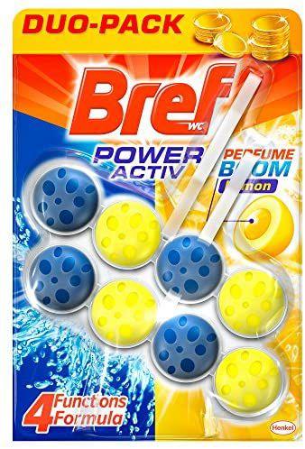 Bref Poder Activo Limón Duplo Colgador WC - 2 x 50 ml (Compra recurrente)