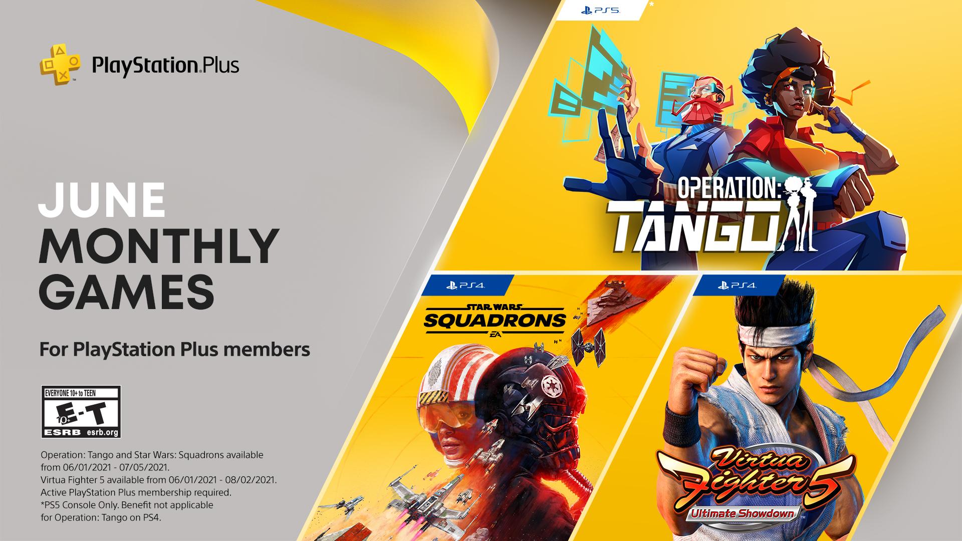 PSN PLUS junio (Virtua Fighter 5: Ultimate Showdown, Star Wars: Squadrons y Operation: Tango)