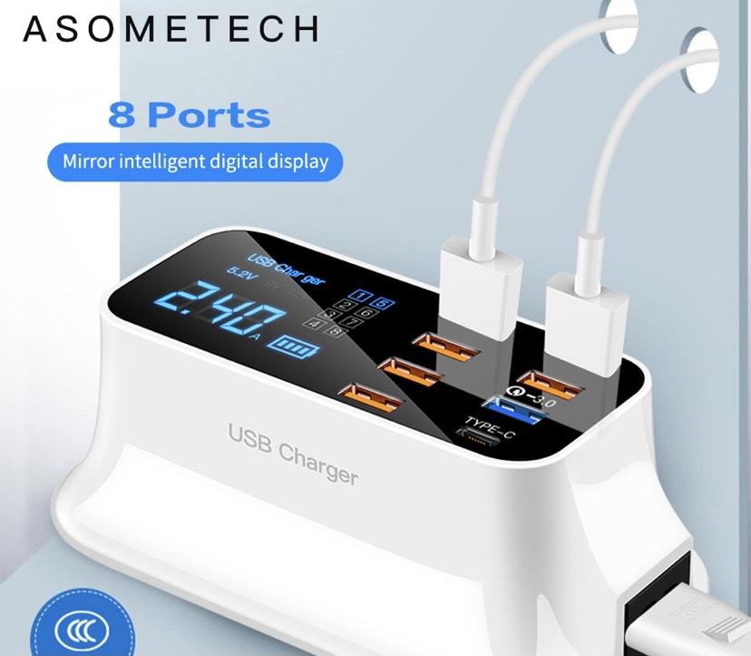 Estación de carga USB desde España