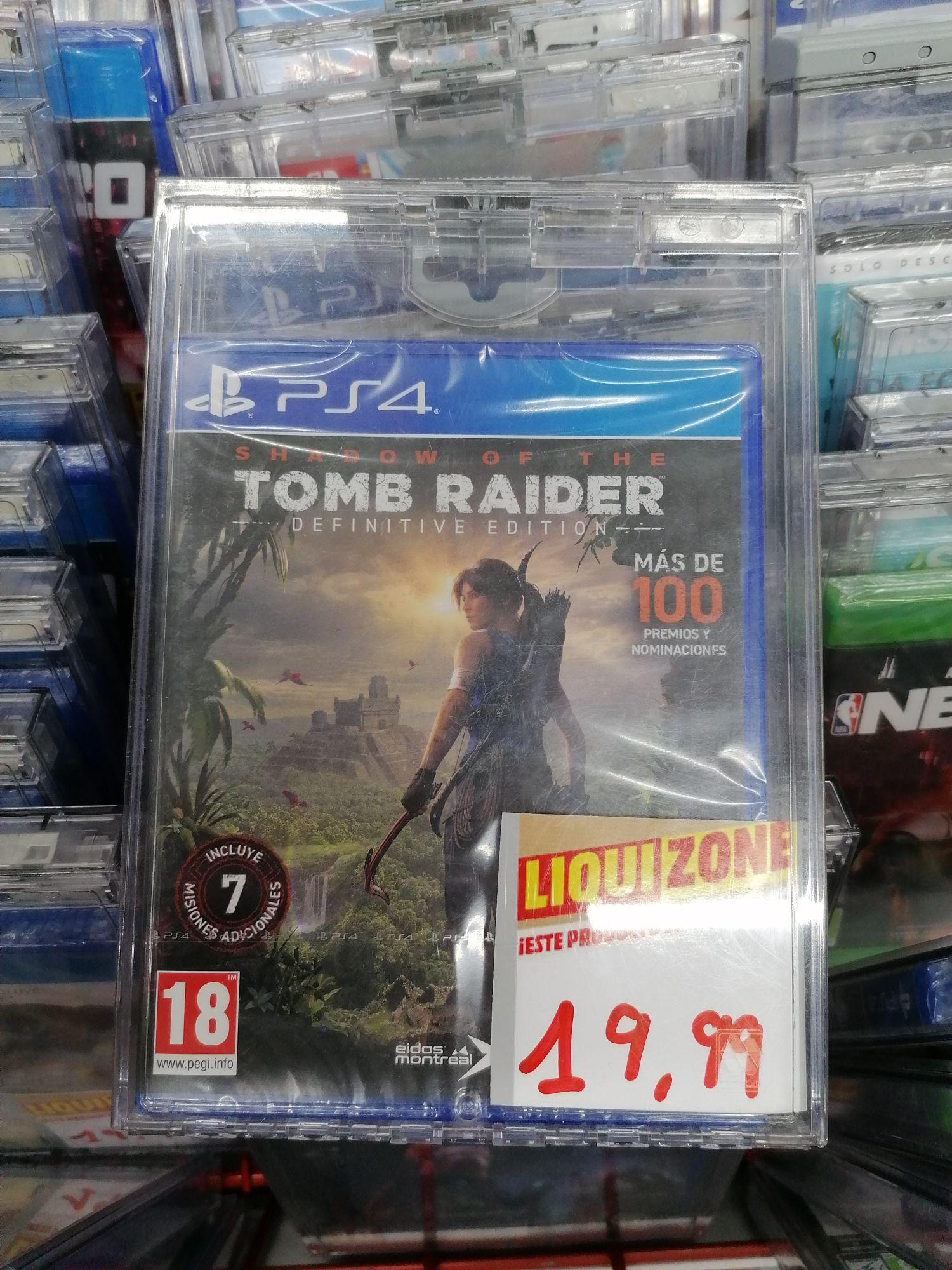 Shadow of the Tomb raider definive edition en el Mediamark del Centro comercial Nevada