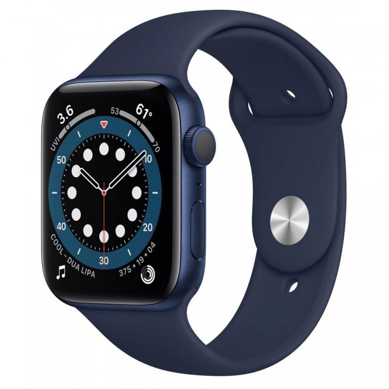 Apple Watch Series 6 GPS 40mm Blue Aluminium Case with Sport Band Deep Navy EU