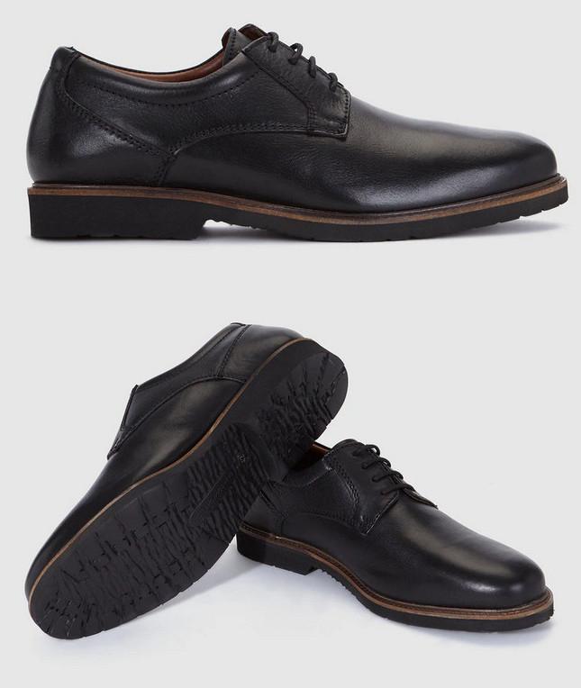 Zapatos Dustin en piel (Color negro) Varias tallas por sólo 19,95€