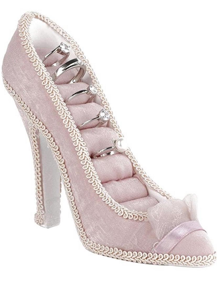 Joyero para anillos Modelo Zapatos de tacón