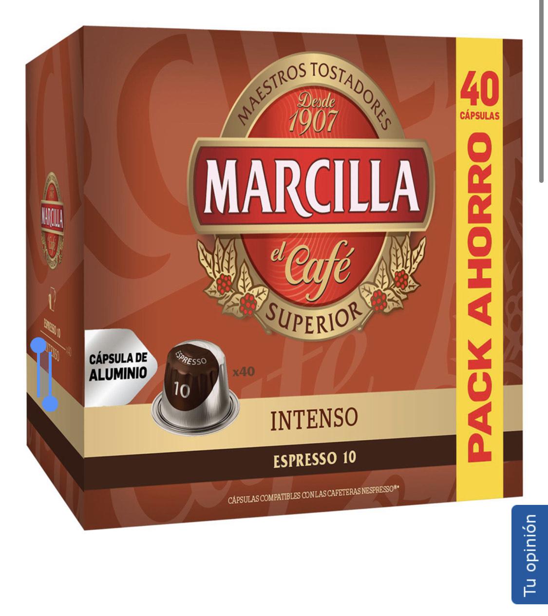 120 cápsulas Marcilla compatibles con Nespresso