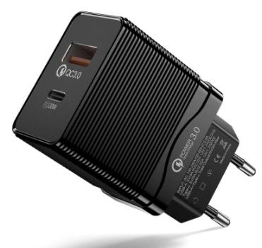 Cargador 20W USB QC 3.0 solo 1.6€