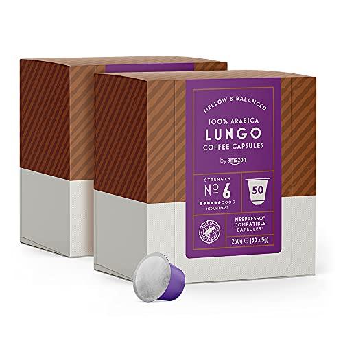 by Amazon Cápsulas Lungo, compatibles con Nespresso - 100 cápsulas