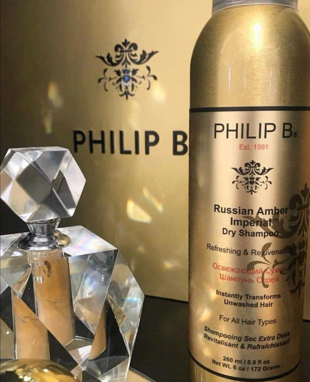 "Champú en seco Philip B ""Russian Amber Imperial"""