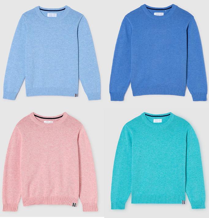 Jersey 100% algodón para niños (3-16 años) por sólo 4,99€ (5 colores disponibles)