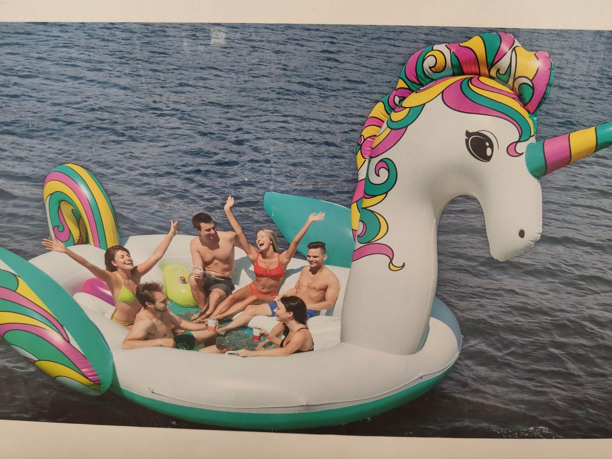 Super unicornio hinchable outlet Carrefour paterna