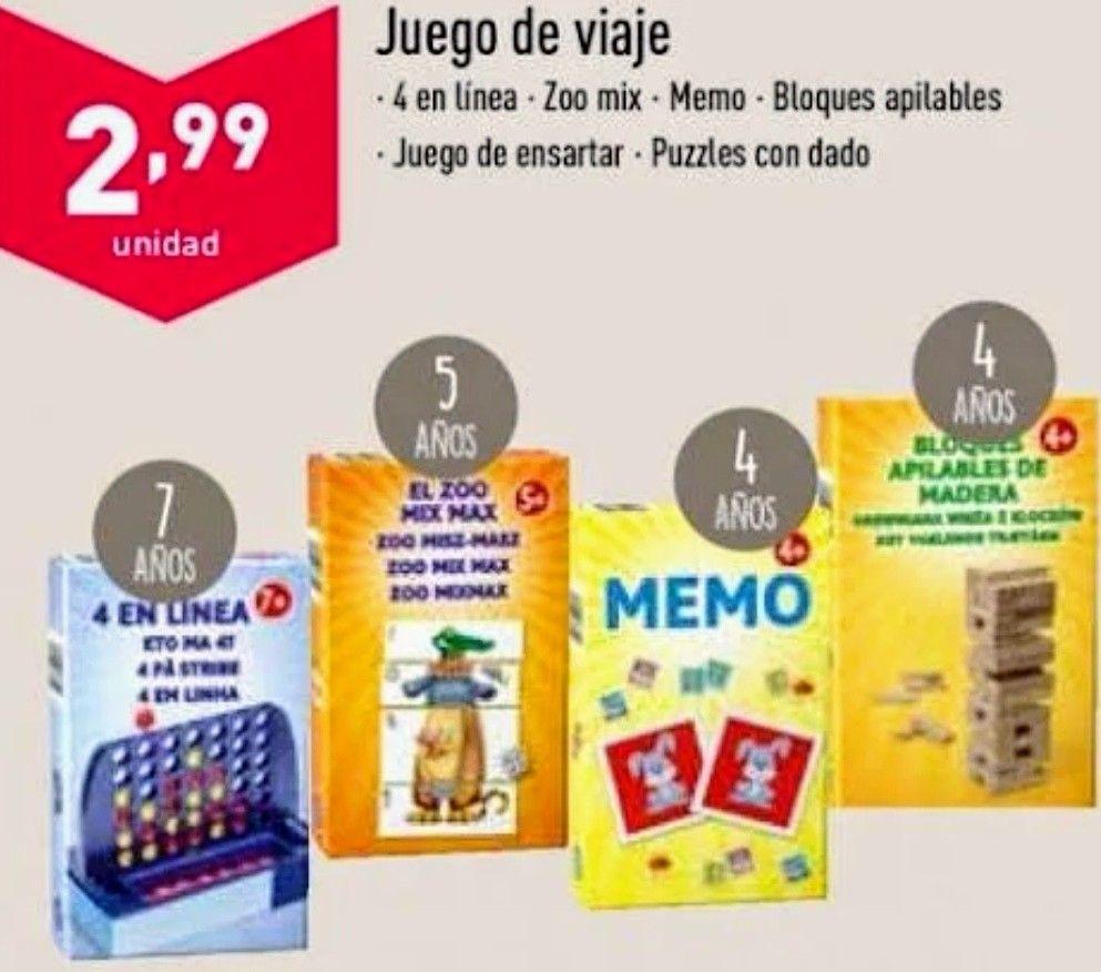 Juegos de Viaje X 2.99€