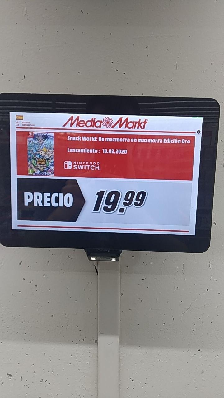 Snack World Switch 19,99 Mediamarkt Nevada(Granada)