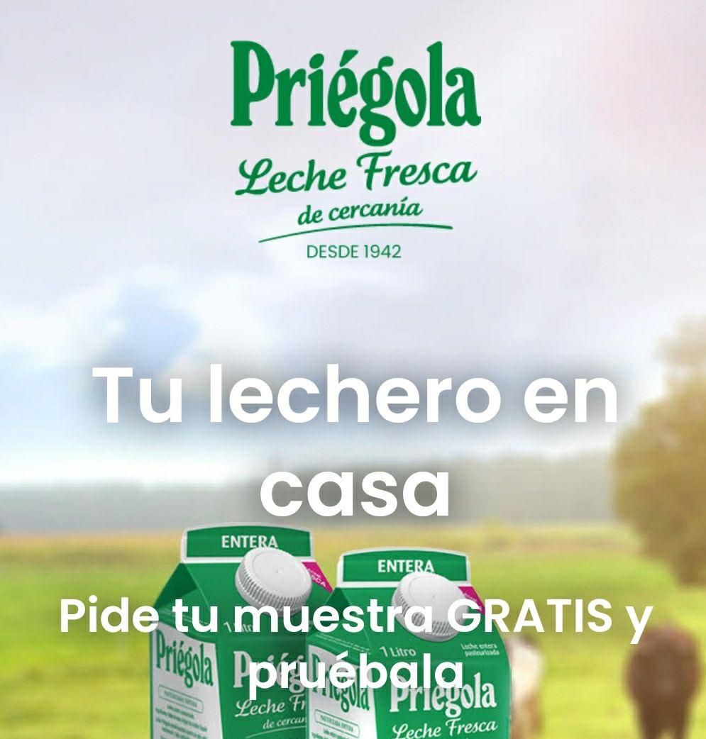 Leche fresca Priégola Gratis (Sólo en la comunidad de Madrid)