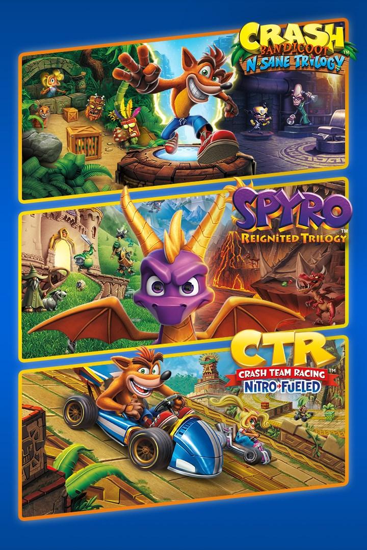 Lote Triple juego Crash™ + Crash Team Racing + Spyro™ PS4 Digital