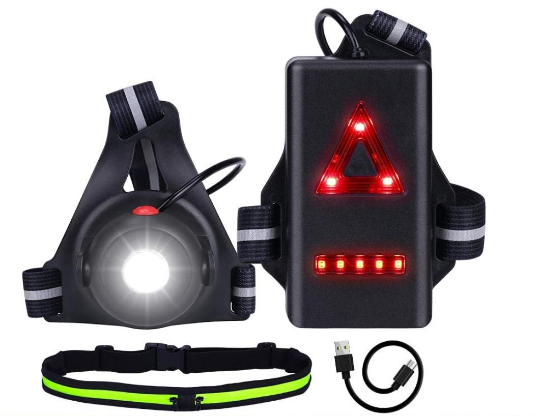Luz para correr recargable por USB solo 3.6€