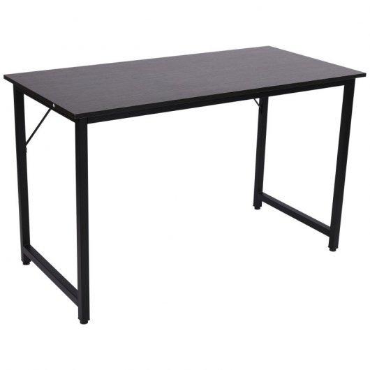 Homcom Mesa Escritorio Ajustable 120x60x73cm Negro