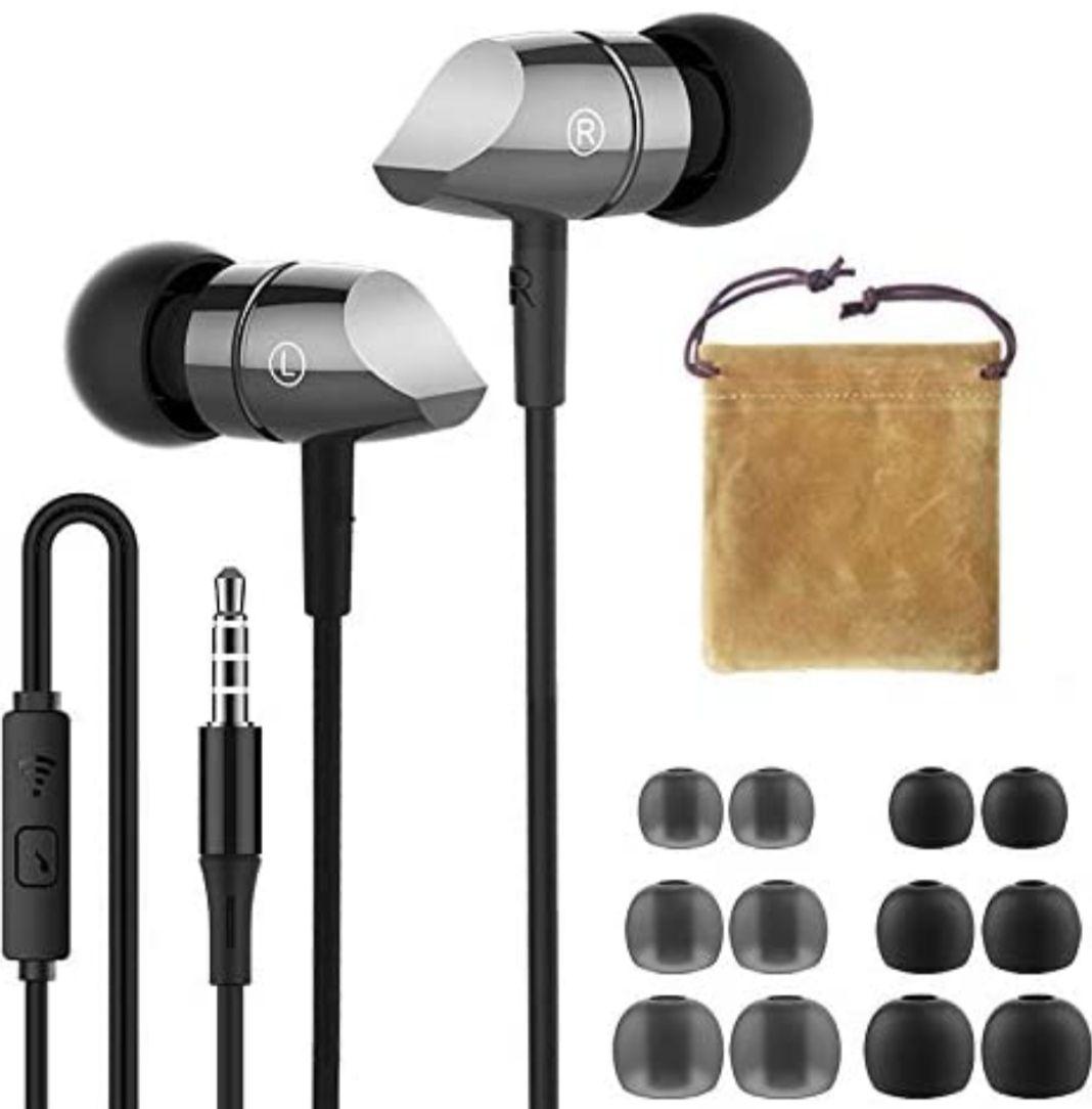 Auriculares in Ear, con Micrófono y Control Remoto, Incluye Bolsa de Transporte