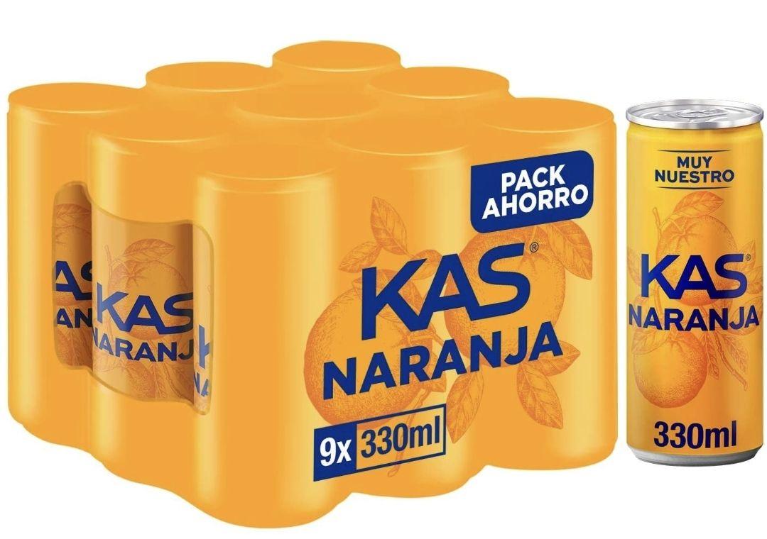 Kas Naranja Bebida Refrescante, Pack de 9 x 33cl (DESCUENTO AL TEAMITAR)