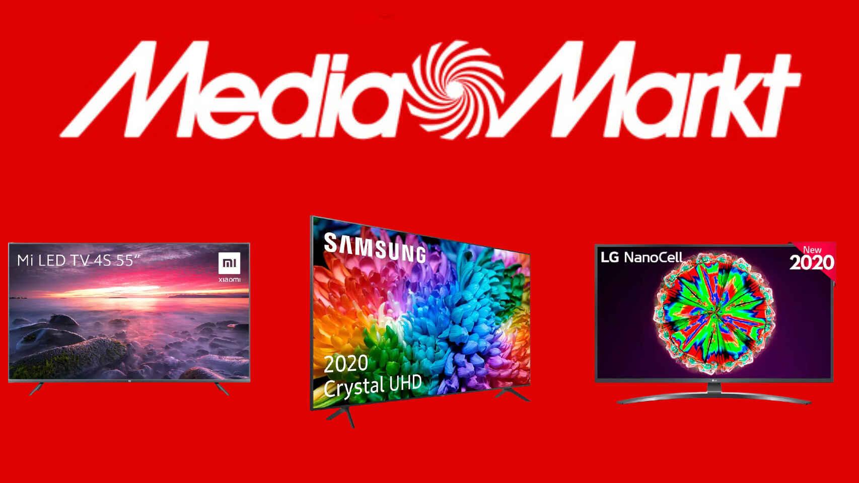 rebajas de hasta el 40% en multitud de televisores y otros productos multimedia