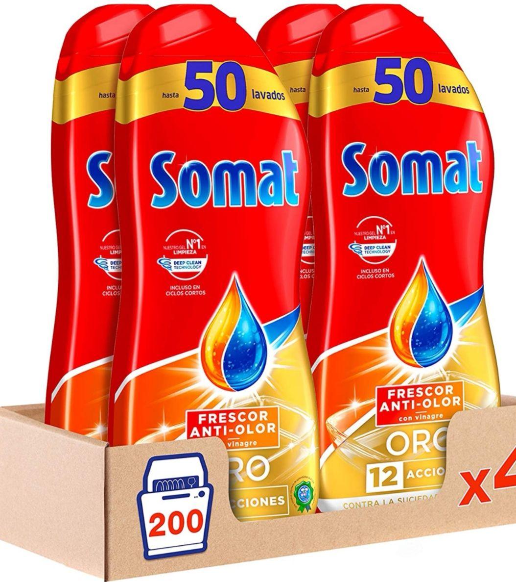 [Pack de 4 x 50 lavados] Somat Oro Gel Lavavajillas Vinagre (Precio Al Tramitar)