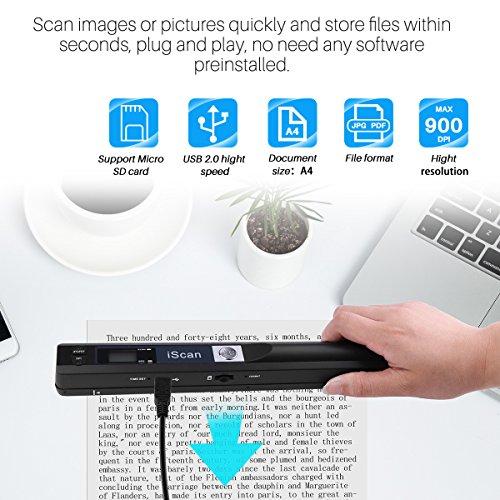 Escáner portátil tamaño A4