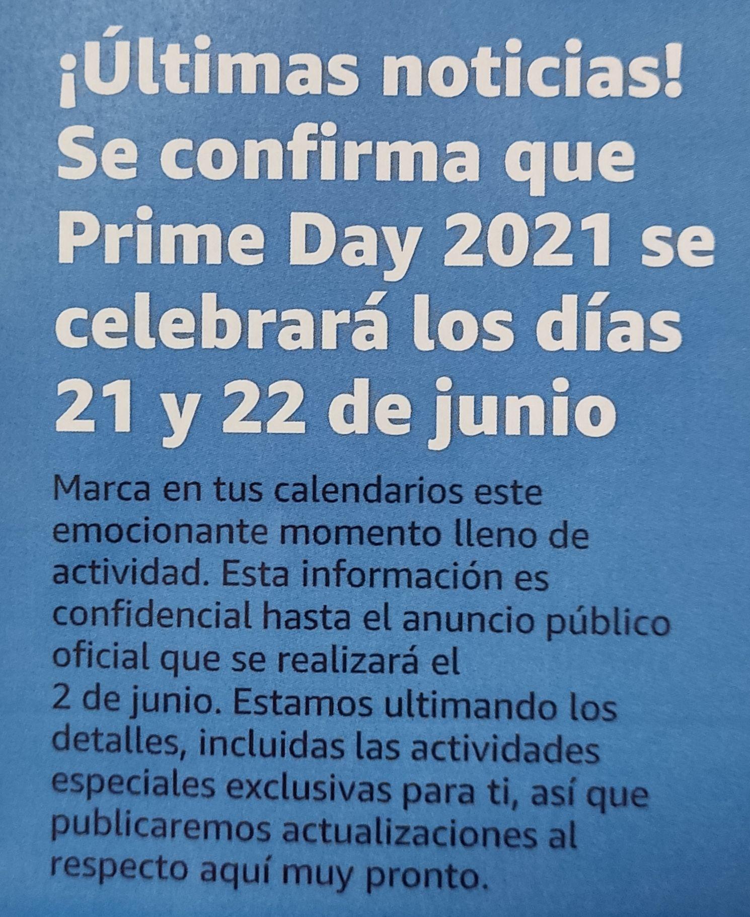 Amazon Prime Days: 21 y 22 de Junio