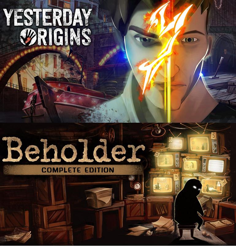 NINTENDO SWITCH: Yesterday Origins (1,99€ ES/ 1,66€ RUS) y Beholder Complete Edition (3,74€ ES/ 2,92€ RUS)