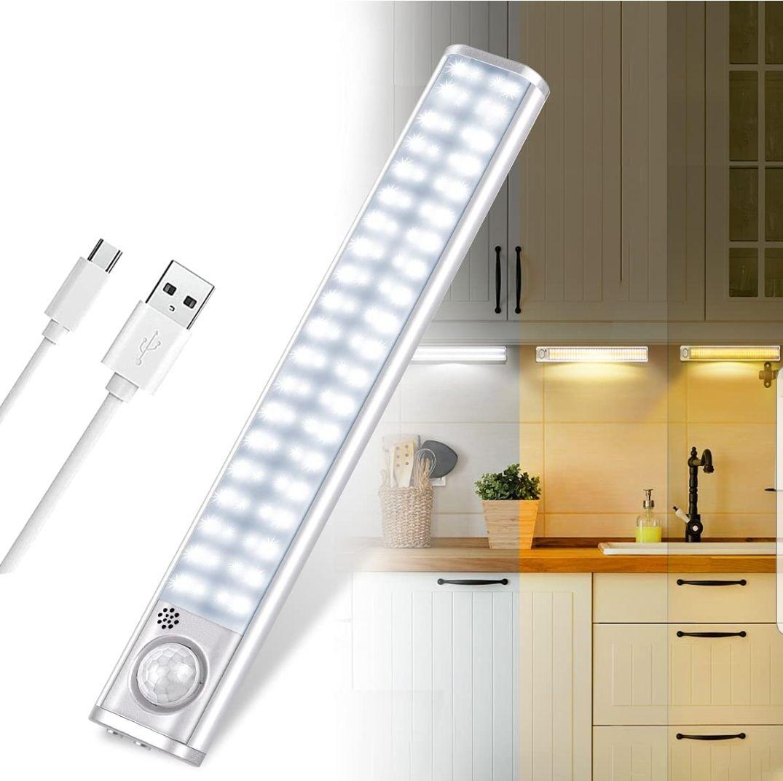 Luz LED recargable con sensor de movimiento
