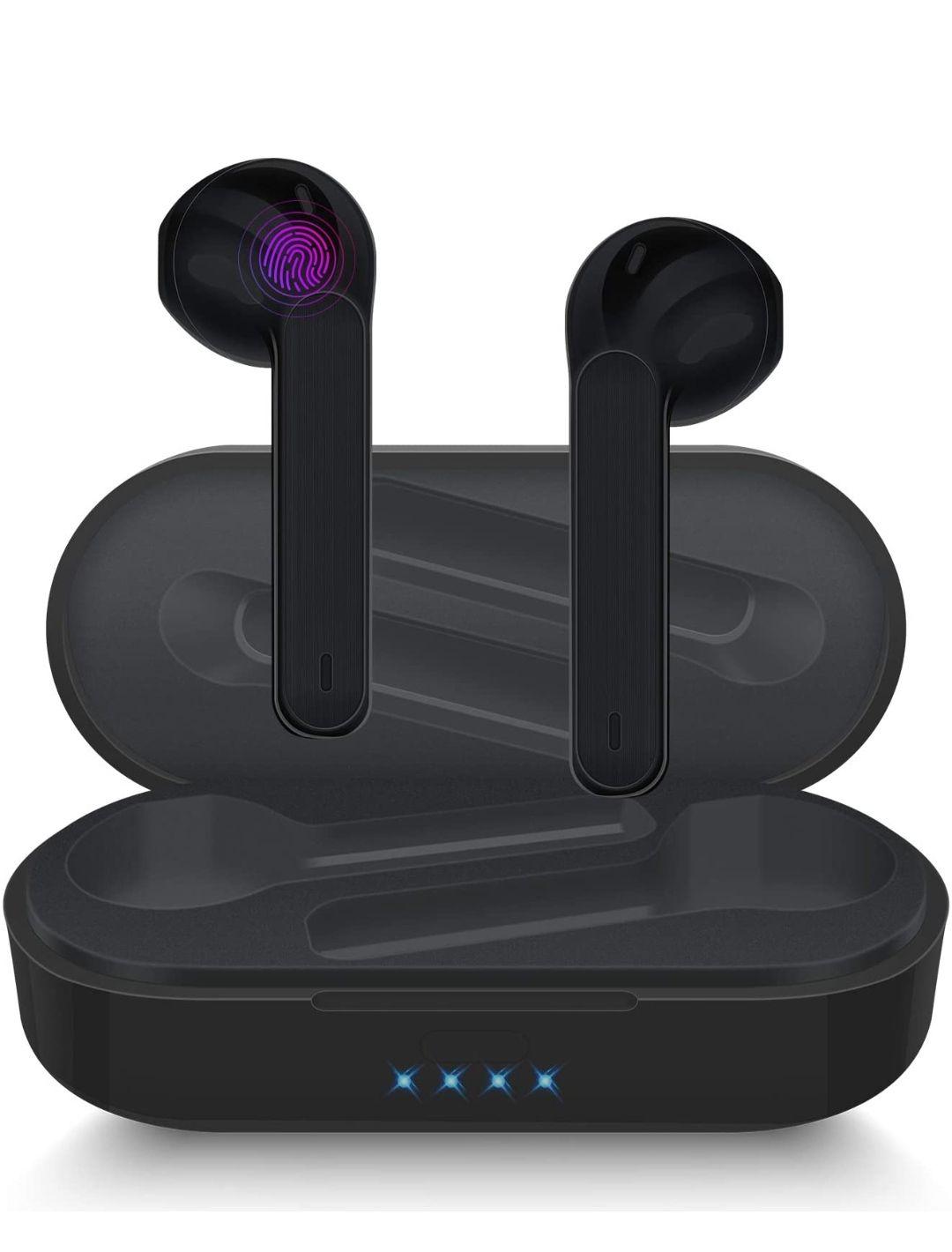 Auriculares Inalámbricos Bluetooth,reproducción de 25 Horas,control táctil