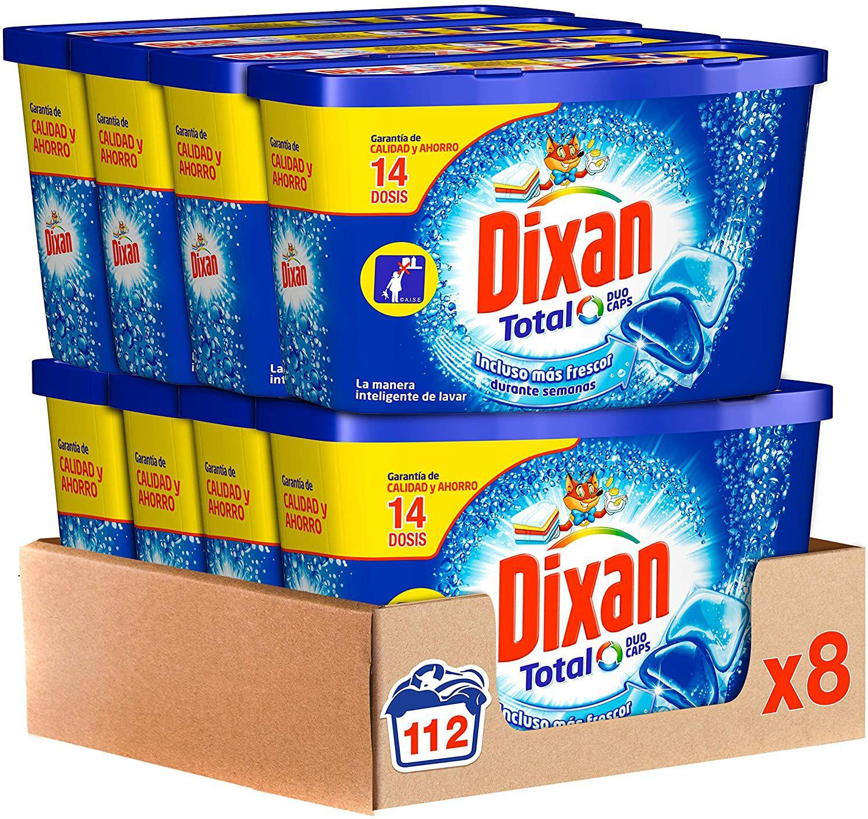 Dixan Detergente en Cápsulas, 8 cajas de 14 Dosis, total 112 lavado