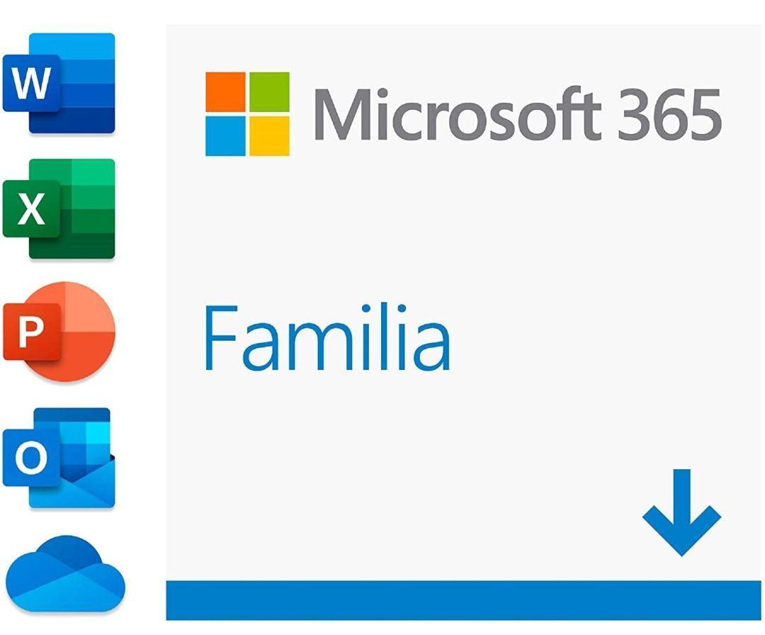 Microsoft 365 Familia| Para 6 PCs/MACs/6 tabletas