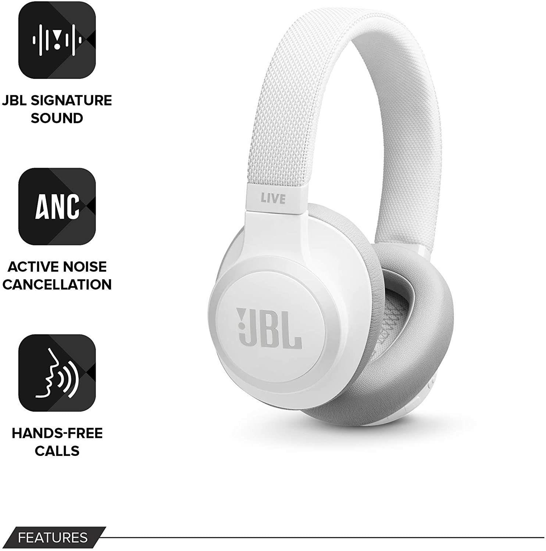 JBL LIVE 650BTNC - Auriculares Inalámbricos con Bluetooth y cancelación de ruido, asistente de voz integrado, hasta 30h