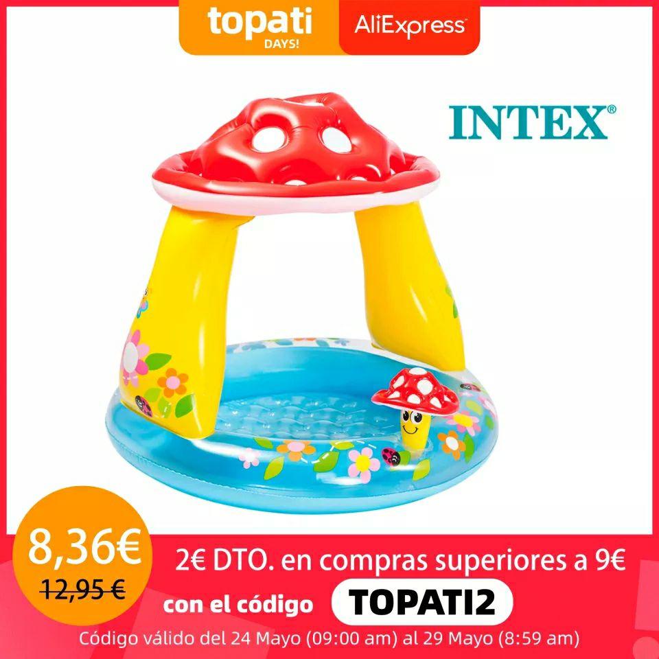 Piscina hinchable para bebés Intex con parasol envío desde España 1 metro diámetro