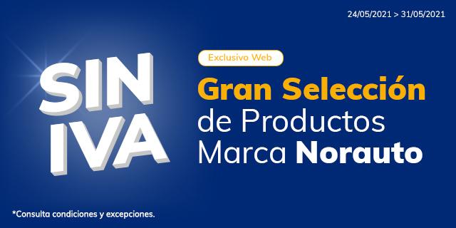 SIN IVA (17%) en productos NORAUTO