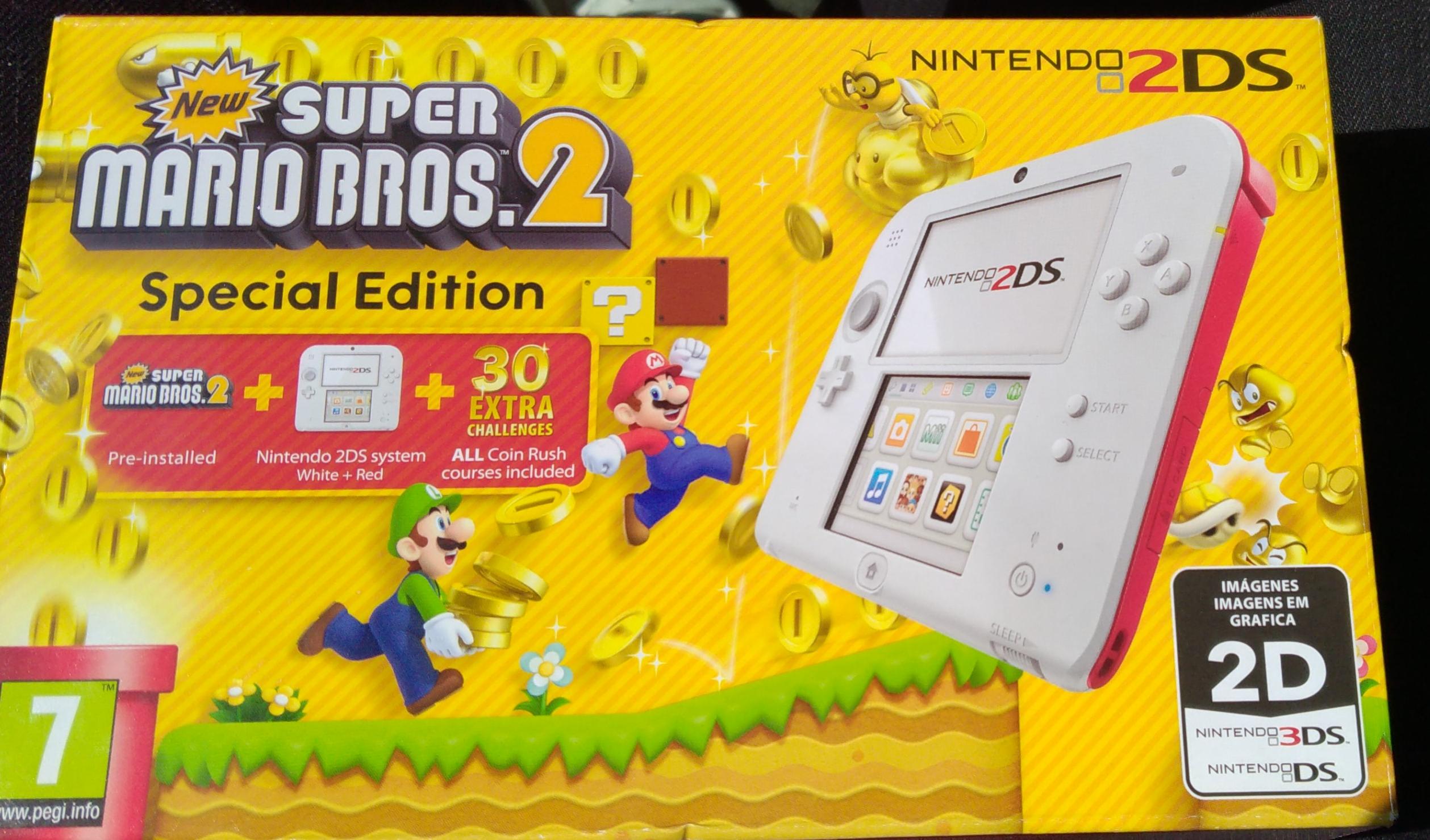 NINTENDO 2DS+MARIO KART o Super Mario Bros 2