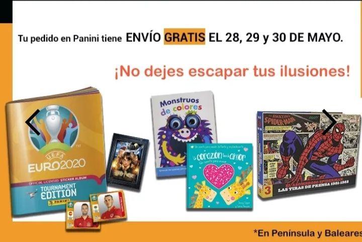 Envíos gratis en Panini España durante 28-29-30 de Mayo
