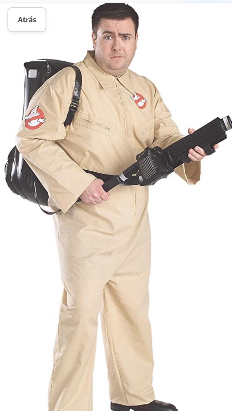 Disfraz de Cazafantasma , talla XXL incluye pistola hinchable
