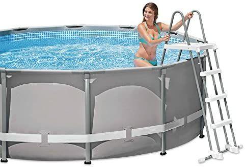 Escalera piscina 3 peldaños + plaraforma
