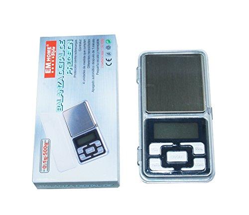 Mini Balanza Digital de Precision, 0.1g-500g Tamaño 12x6x2cm