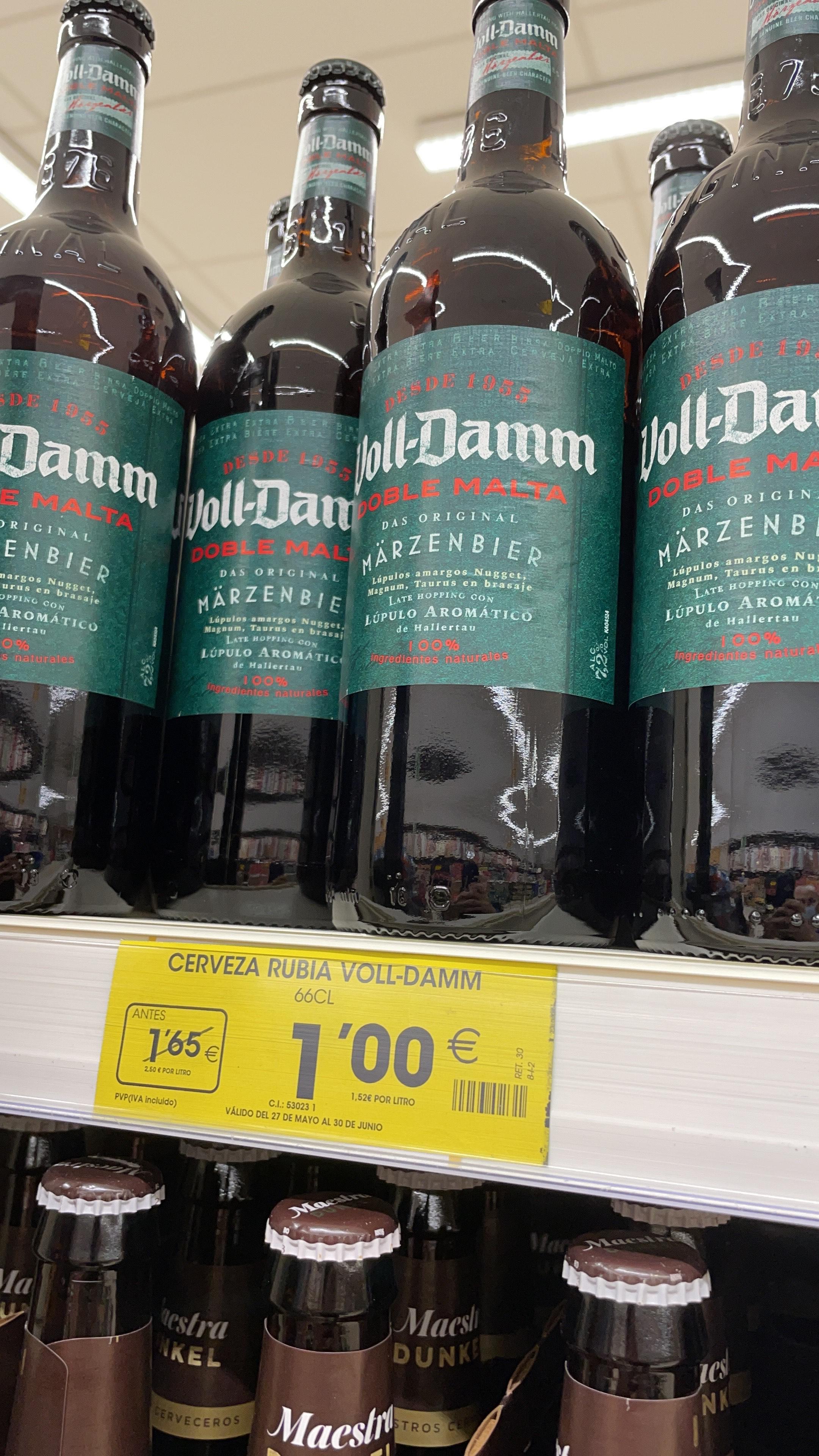 Cerveza Voll-Damm 66Cl SUPERMERCADOS AHORRAMAS