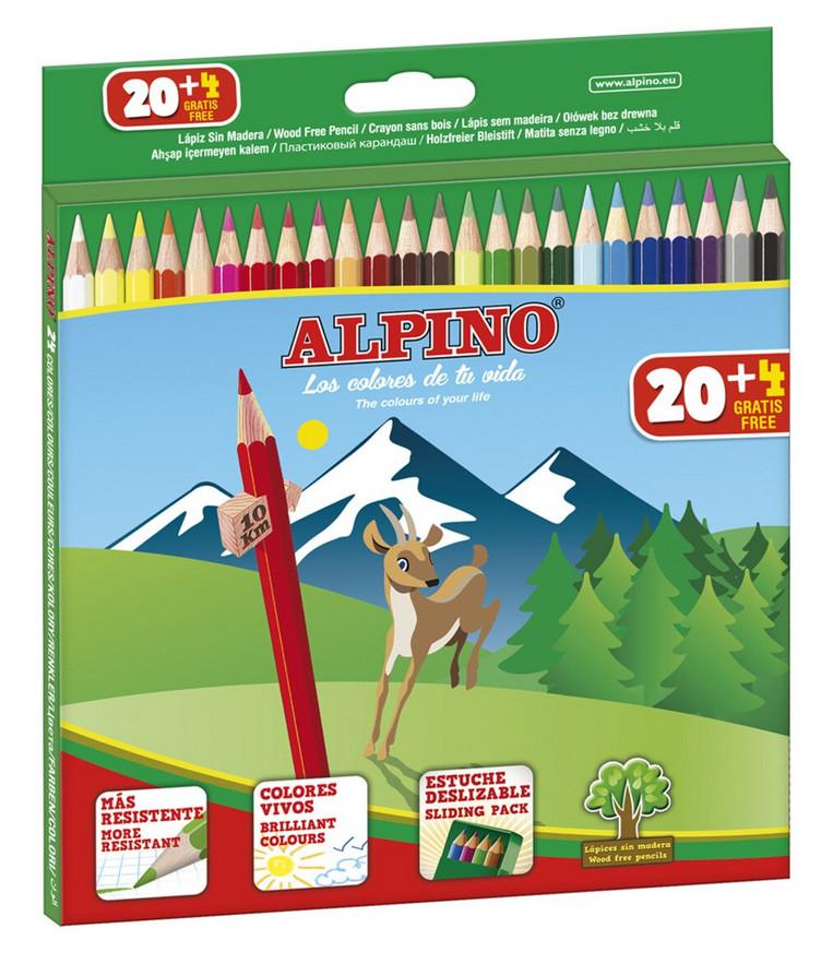 Caja de 24 lápices multicolor Alpino por sólo 2€