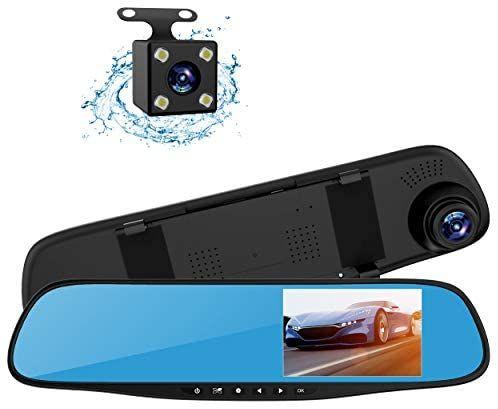 """Topsale-ycld 4.3""""1080P Dual Lens Car Kit de cámara de visión Trasera"""