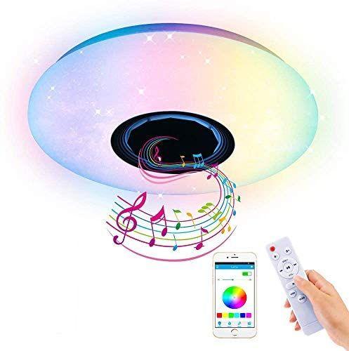 AEUWIER Luz de techo a todo color con Bluetooth