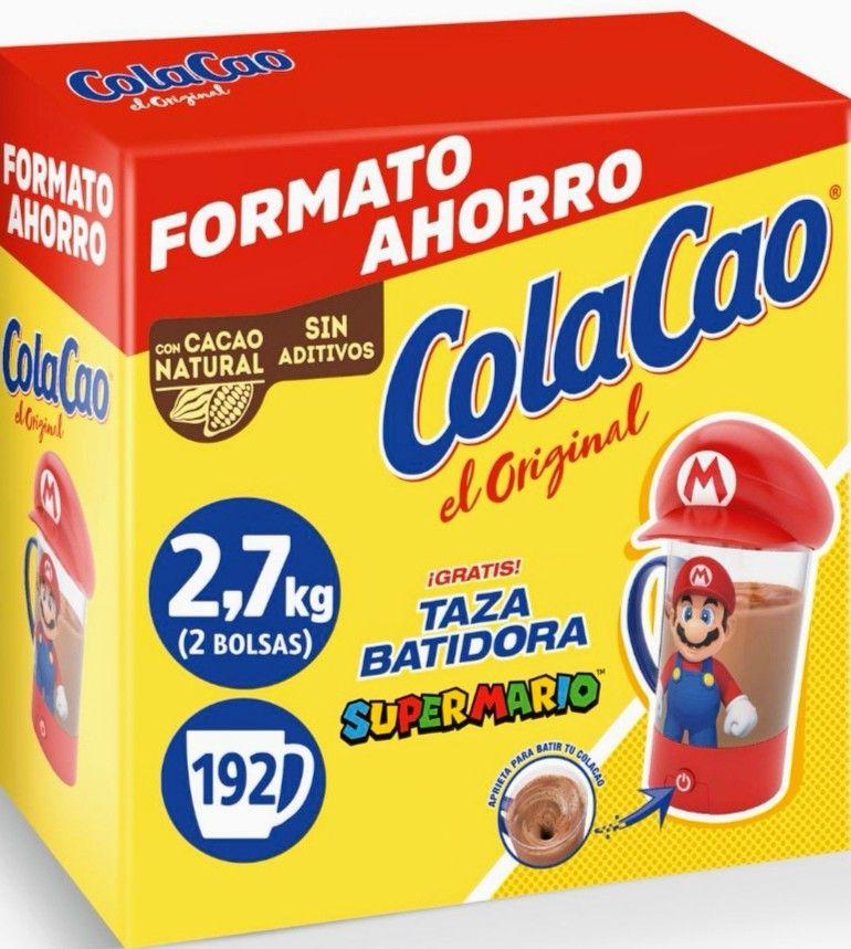 Cacao soluble original Cola Cao sin lactosa 2,7 kg + [REGALO Taza Batidora Súper Mario]