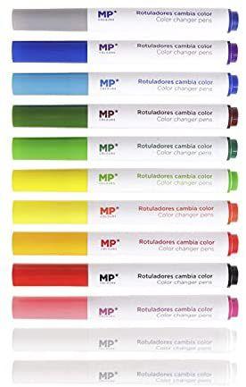 Rotuladores Brillantes Mágicos que Cambian el Color 12 unidades,
