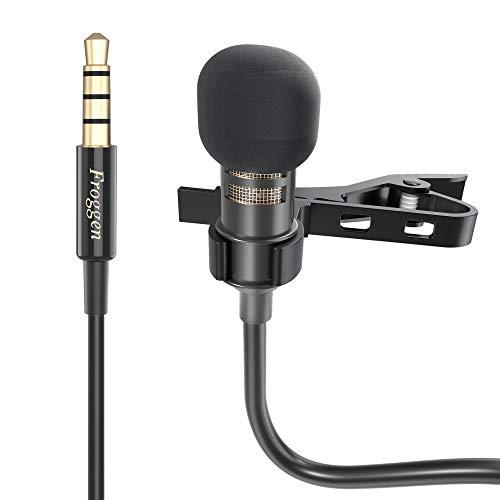 Micrófono de Solapa 3.5mm, Micrófono Lavalier Froggen con cable extensión 2m