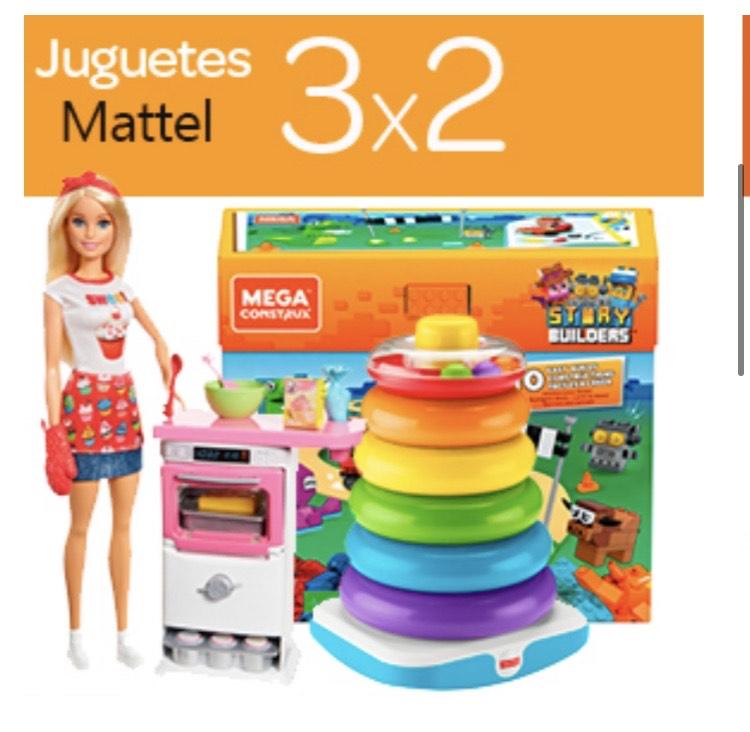 3x2 Juguetes Mattel Carrefour. Barbie, Hot Wheels, Fisher Price, etc...