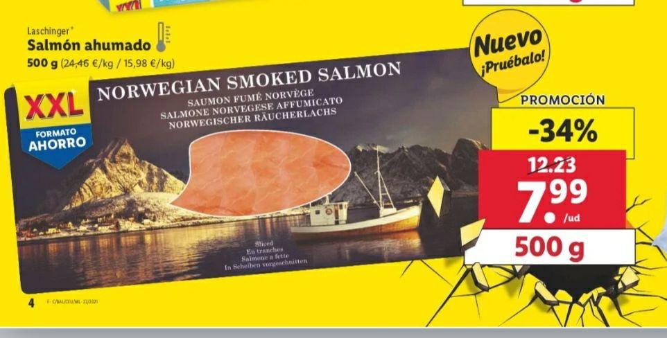 Salmón ahumado 500g en Supermercado Lidl