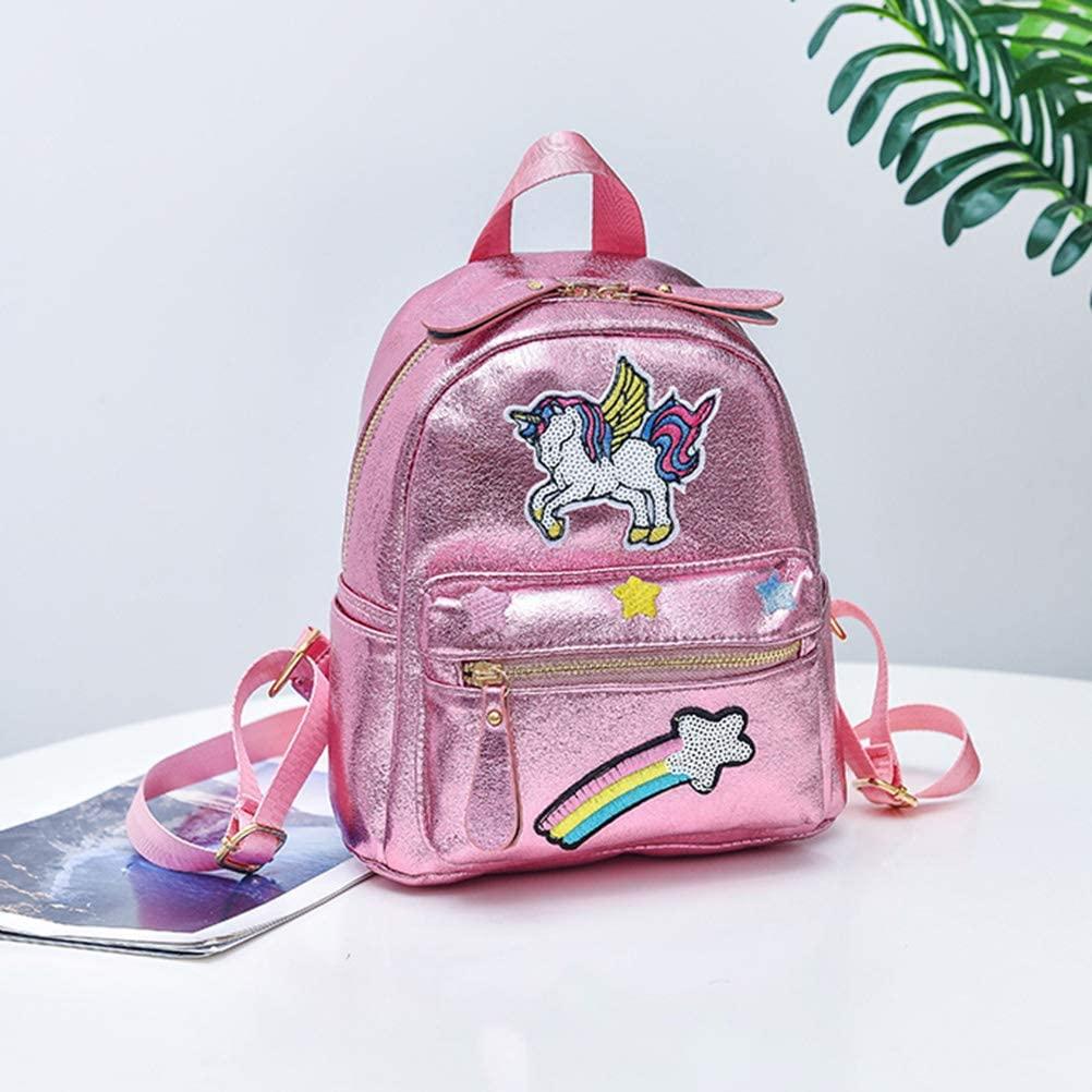 Mochila Unicornio con Estampado Glitter.